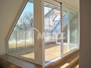 Fenster Dachterrasse Ecklösung Schiebetüre