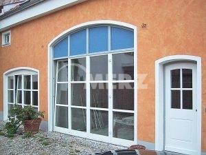 Fenster Sanierung Segmentbogen weiß Sprosse