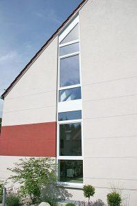 Fenster Treppenhausverglasung Kunststoff weiß