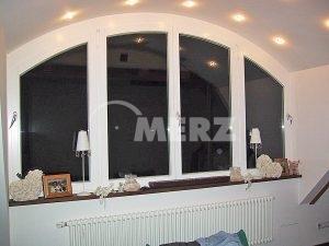 Fenster weiß Holz Segmentbogen
