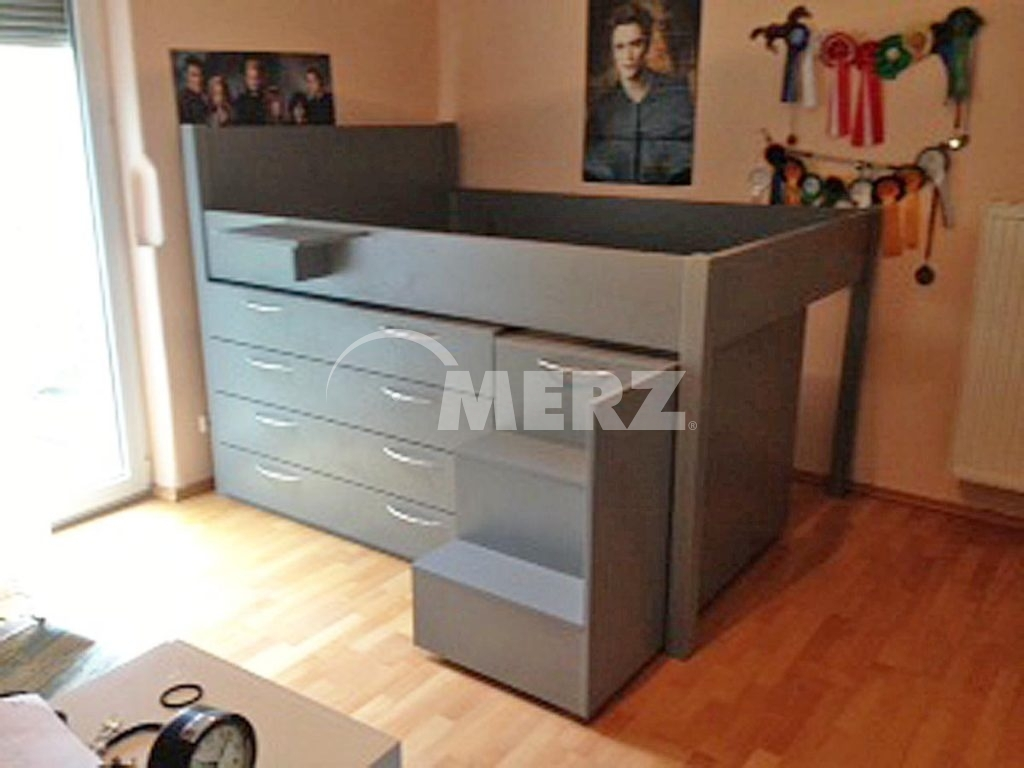 spannende hochbett mit schubladen fotos erindzain. Black Bedroom Furniture Sets. Home Design Ideas